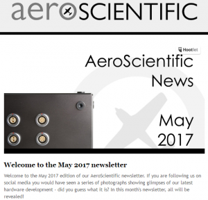 AeroScientific Newsletter – May 2017