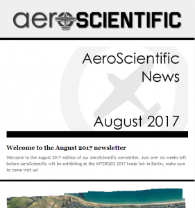 AeroScientific Newsletter – August 2017
