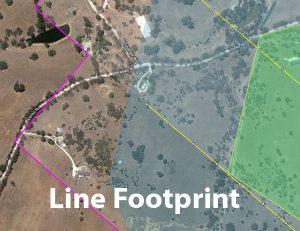 FlightPlanner View Options Flight Plan, Camera Stations, Capture Boundary, Camera and Line Footprint