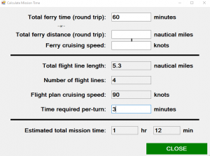 How to Calculate an Aerial Mapping Mission Time with FlightPlanner